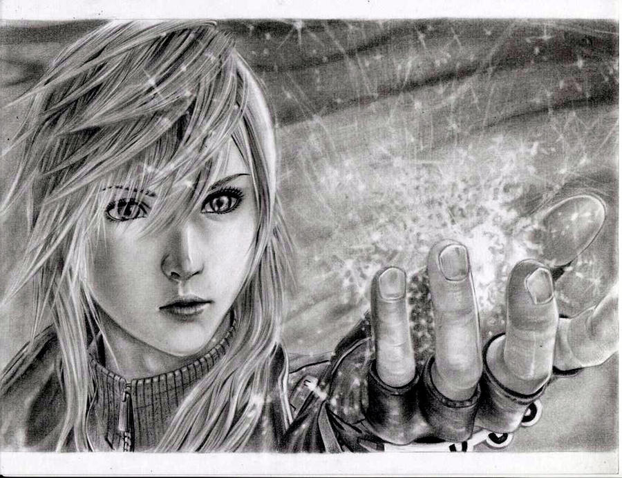 Dissidia012- Lightning by leon7929