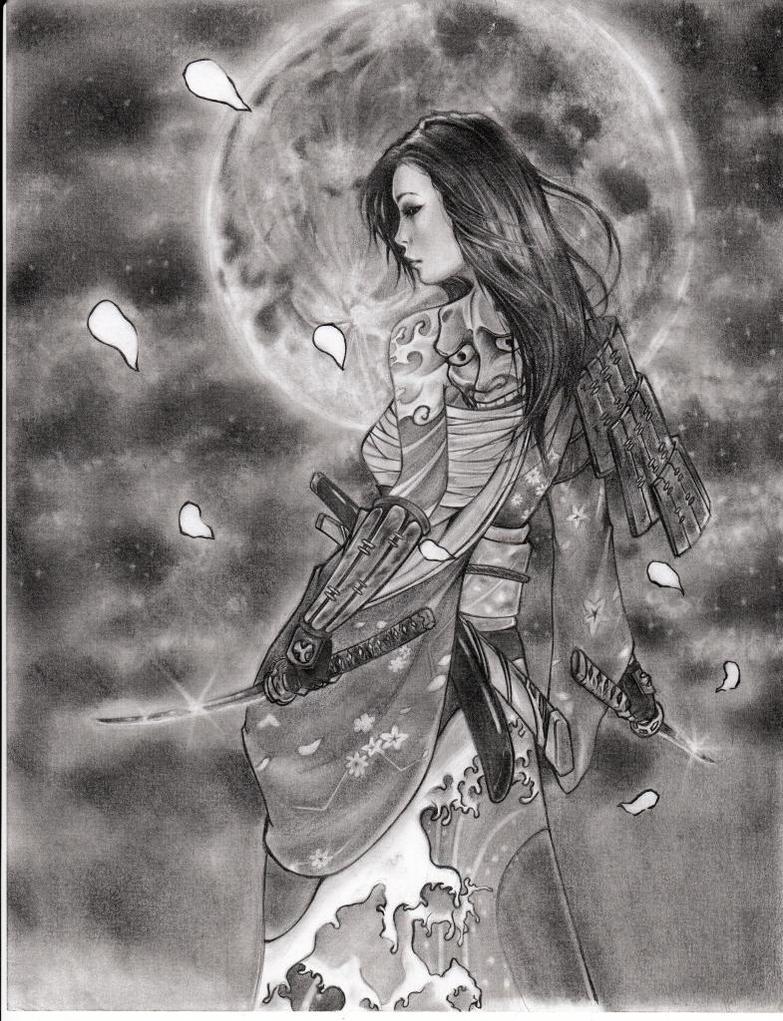 samurai girl by leon7929 on deviantart