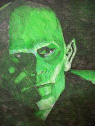 Vaun in green lighting!