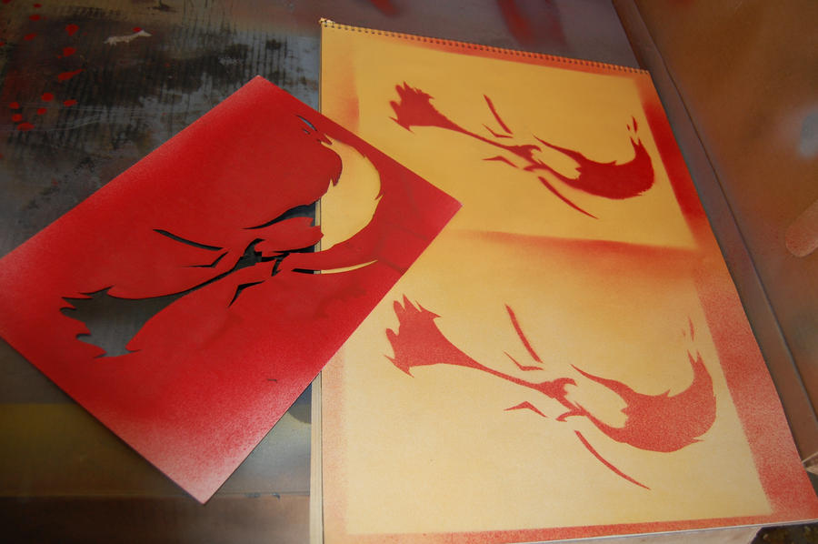 AT- Flame Princess stencil tests by bluu78