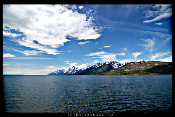 Wide angle Teton by IntentionsAreRed