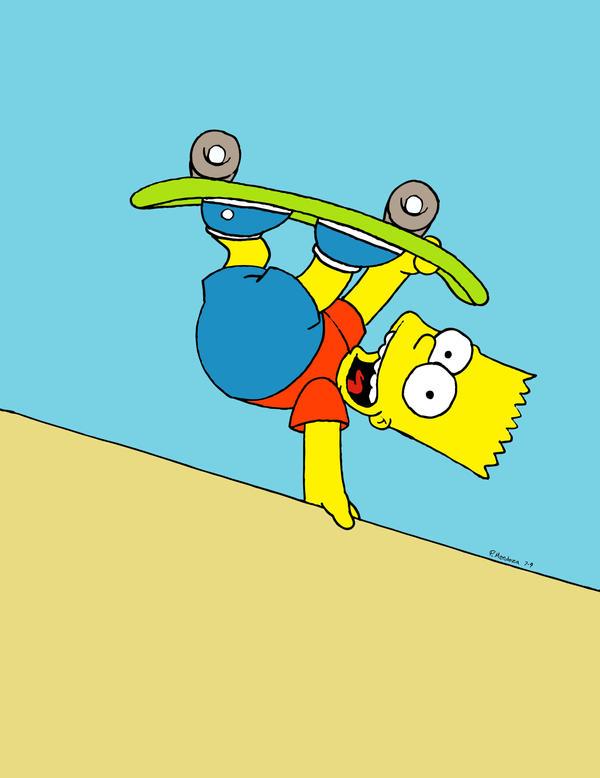 Bart Simpson Skateboarding Wallpaper Skater By P