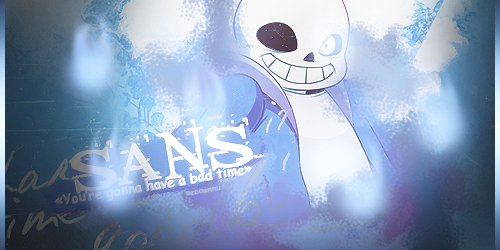 Sans - Signature by Gedomaru