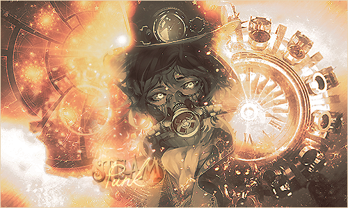 Steampunk - Signature by Gedomaru