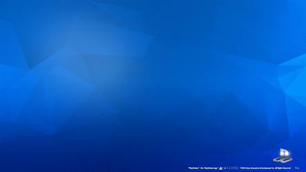 PlayStation Engraved Blue HD Wallpaper