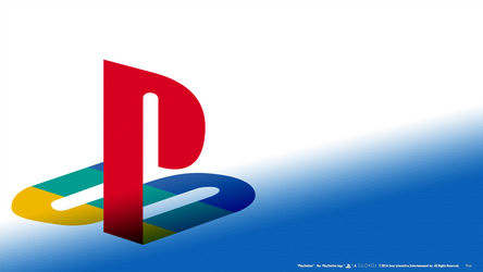 PlayStation Engraved White/Blue Fade HD Wallpaper