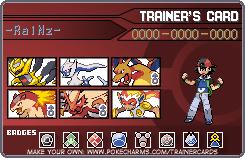 -RaiNz- Pokemon Trainer Card by manaboy100