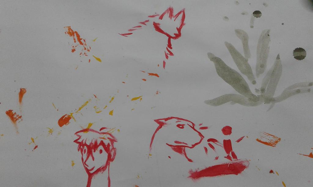 Brincando com tinta by Engelfenix