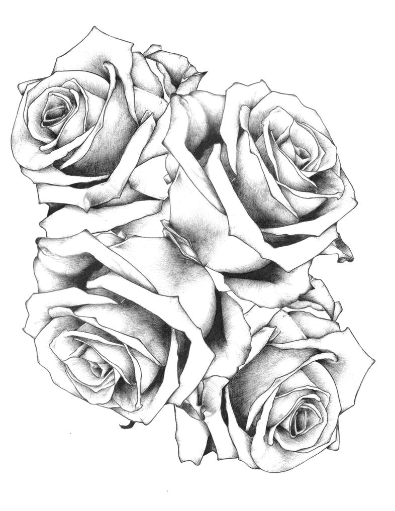 Rose tattoo design 2 by JackLumber