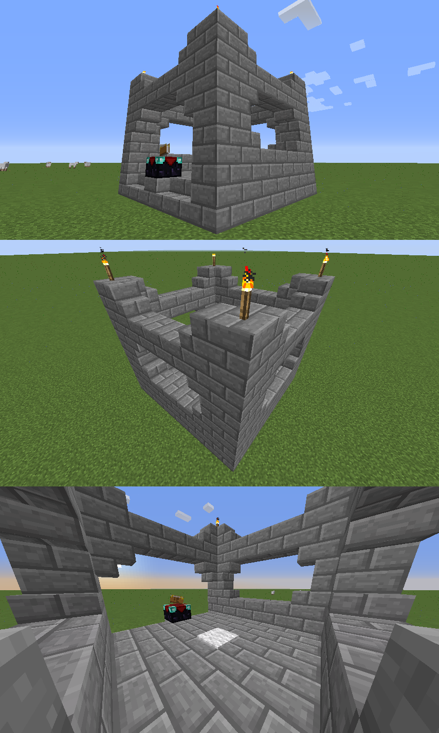 minecraft how to build an underground enchantment table