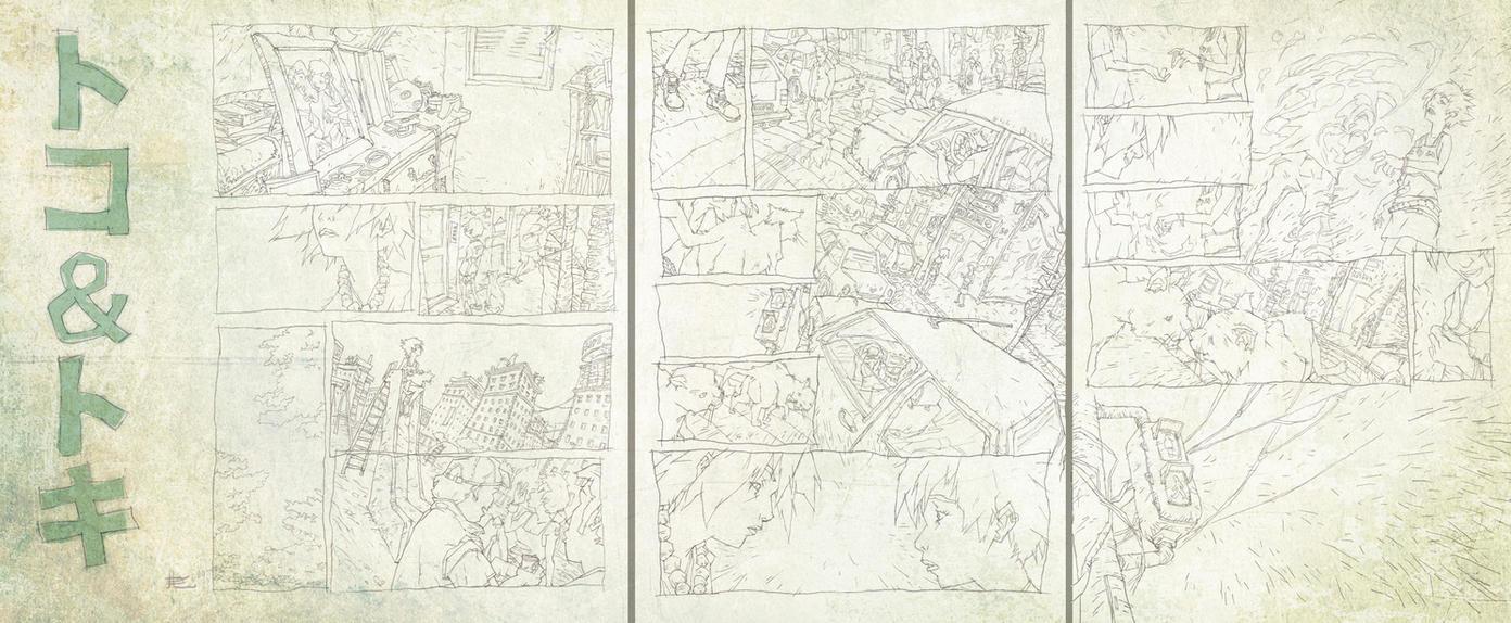 TOKO+TOKI pencil comicpages by toniinfante