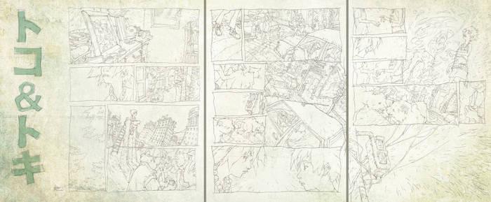 TOKO+TOKI pencil comicpages