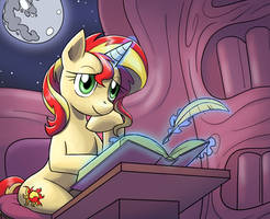 Sunset Shimmer 100th episode color by nauth