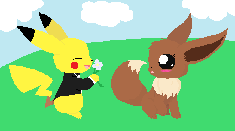 Pikachu and Eevee by PechaScarfRider on DeviantArt  Pikachu and Eev...