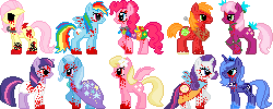 All The Creepy Ponies by PechaScarfRider