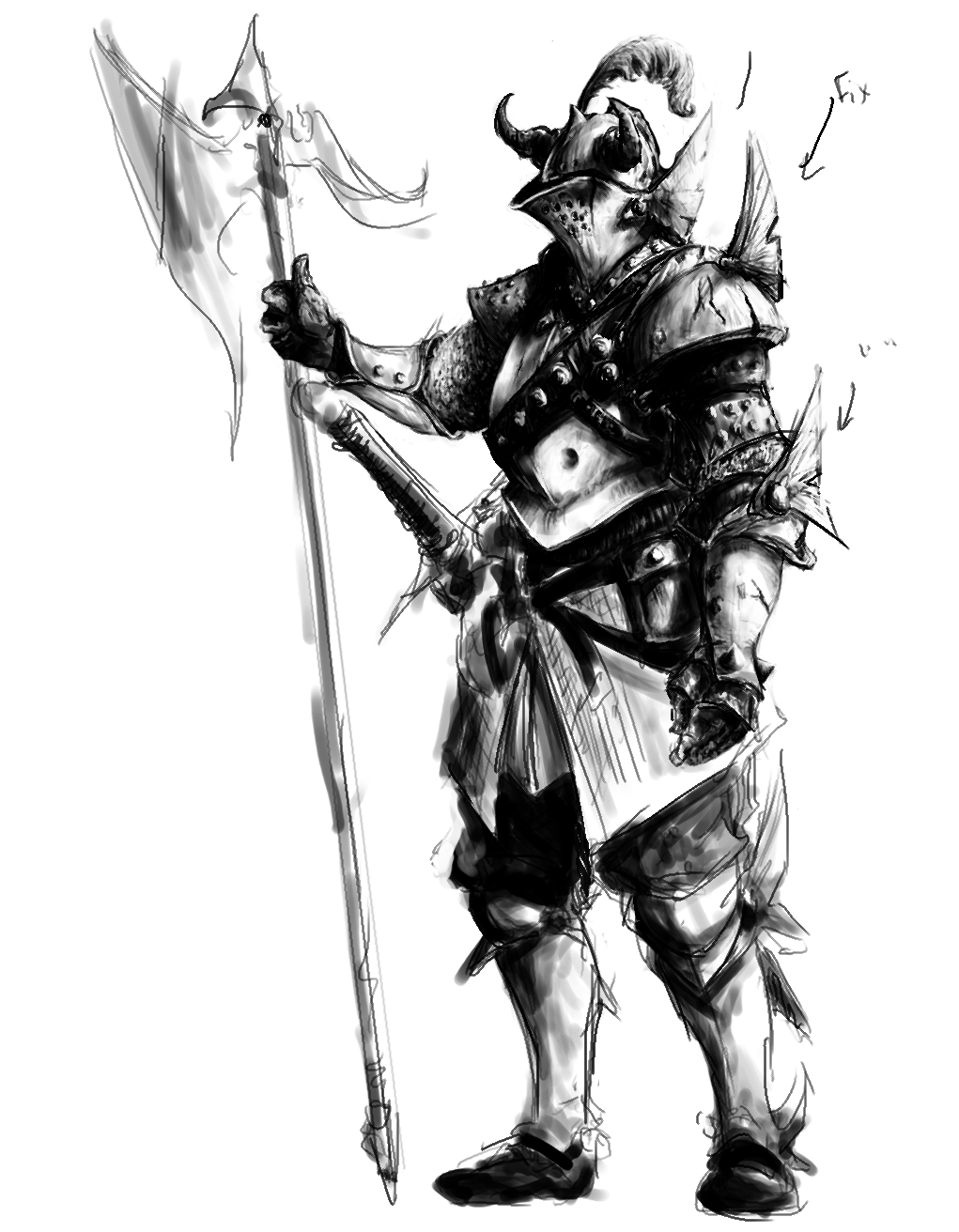 Drawings of fantasy armor images for Cool fantasy drawings