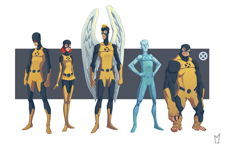 original x-men line up by gloooscap