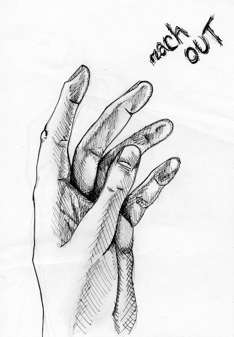 Hand drawing - 'Reach Out' by Doodle-Wotsit on DeviantArt
