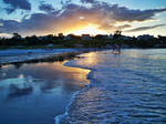 Beach + sunset