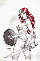 Red Sonja COMMISSION !!! by carlosbragaART80