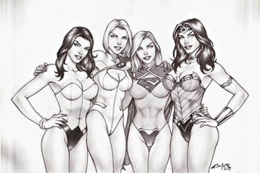 DC GIRLS 2 !!! by carlosbragaART80