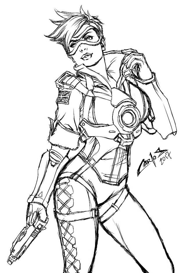 how to draw overwatch tracer