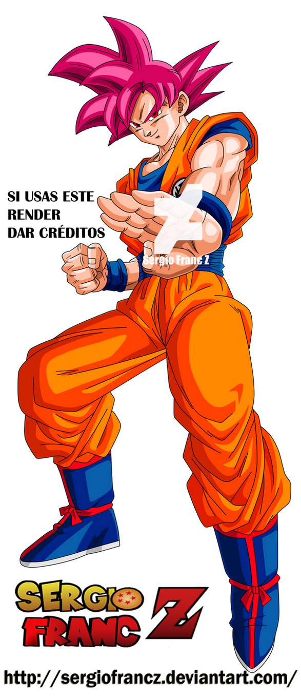 Goku super saiyan god db super by sergiofrancz on deviantart - Sangoku super saiyan god ...