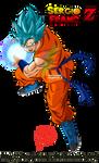 Goku SSG BLUE KAMEHAMEHAA CHARGE