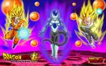 Wallpapert Dragonball super, Sayans vs Frost