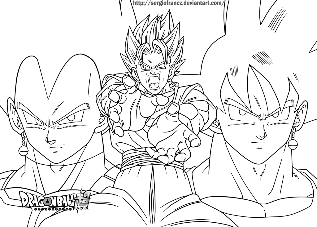 Dragonball Super Vegetto Blue Lineart By SergioFrancZ On