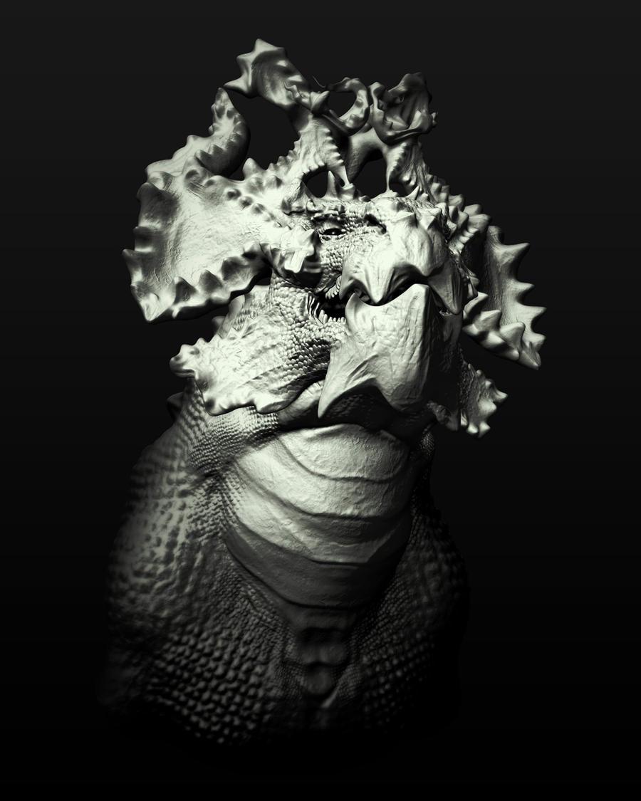 Dragon Face by samshank0453