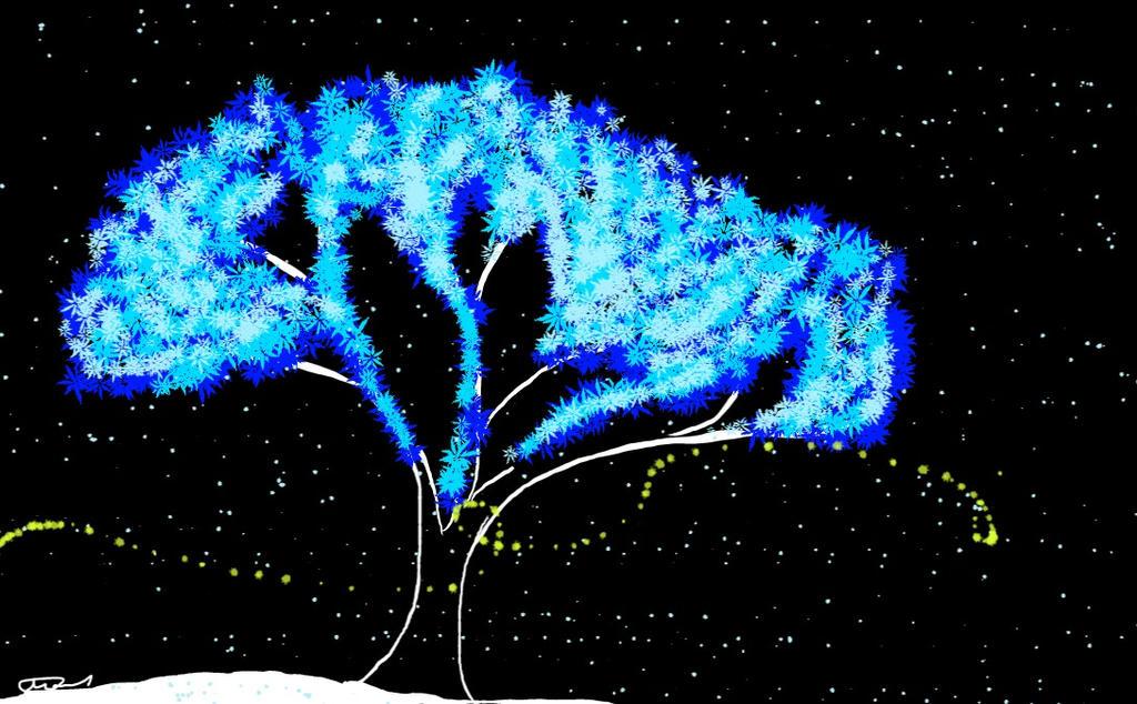 Winter Tree by WolfJinx007