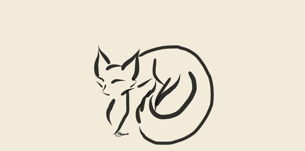 Fox Ink (4) by WolfJinx007