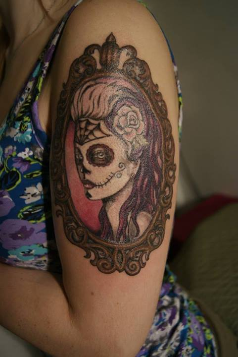 Day of the Dead Woman Framed Tattoo by KimElizondo on DeviantArt