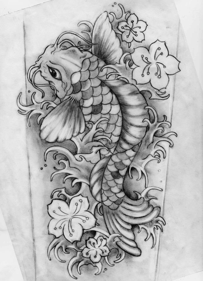 koi tattoo pencil by kimelizondo on deviantart. Black Bedroom Furniture Sets. Home Design Ideas