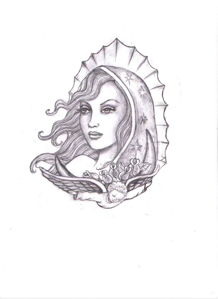 Virgen maria de guadalupe by kimelizondo on deviantart for Virgen de guadalupe coloring pages