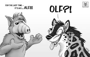 Alf vs. Olf by TaniDaReal