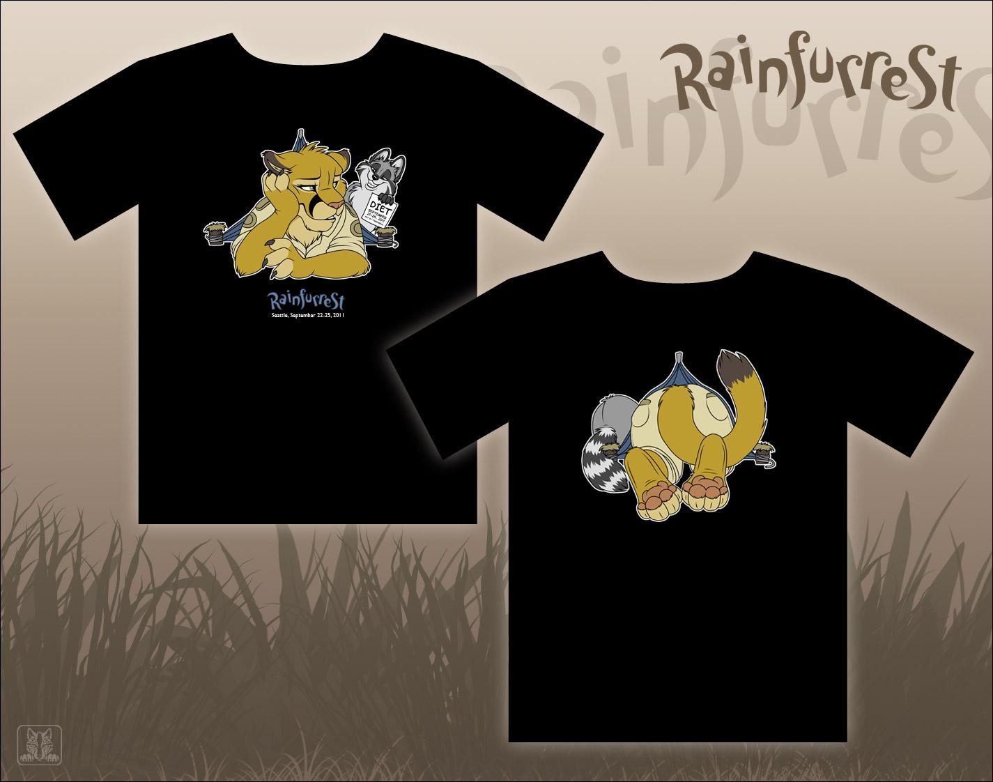 Rainfurrest 2011 T-Shirt by TaniDaReal