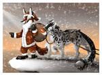 Santa Fox and RudOlf
