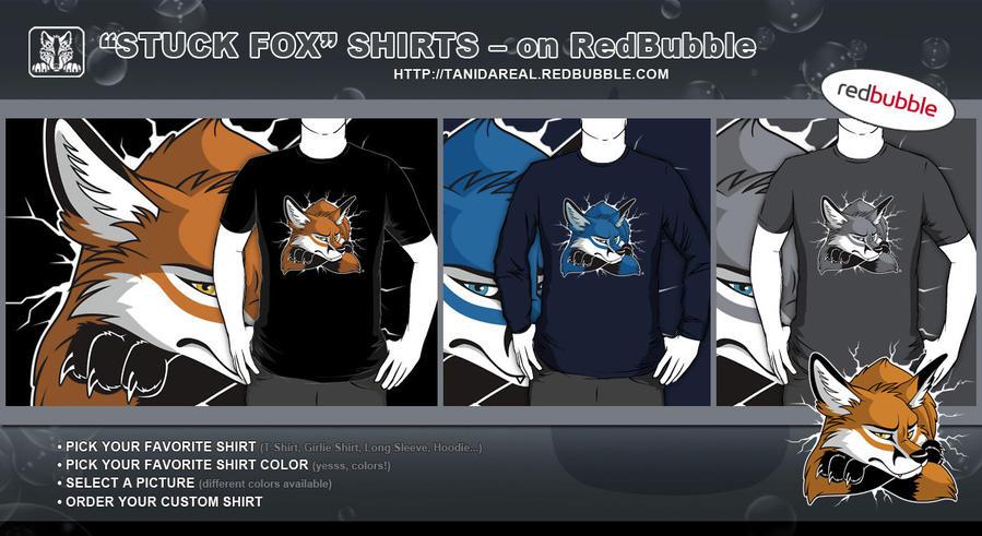 2b99fd8d7 STUCK Fox Shirts - on RedBubble by TaniDaReal on DeviantArt
