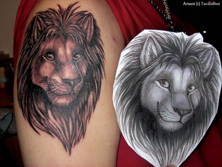 Aslan ( Lion - leon ) Dövme Tattoo Modelleri