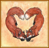 Heart Foxes by TaniDaReal