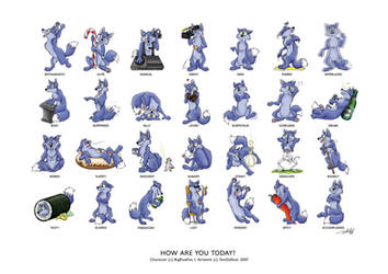 How are you today - BigBlueFox by TaniDaReal