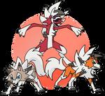ArtTrade - Wolf Trio by KunYKA