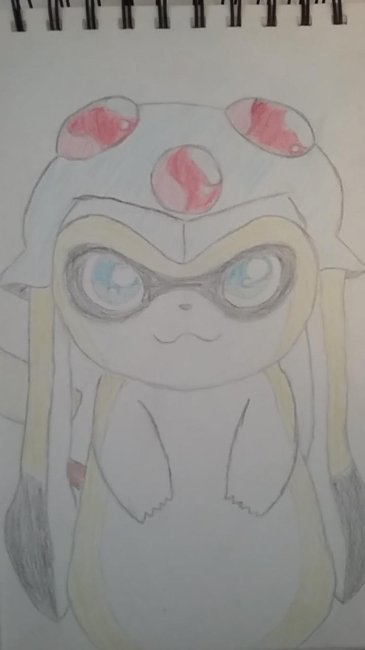 Pikachu / Tentacool / Splatoon Crossover Fusion by StarDust176