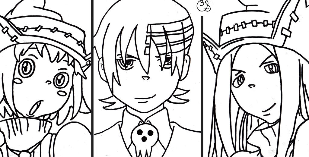 luxury soul eater coloring pages death the kid composition
