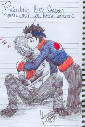 Obito and Kakashi by YazVolKanik