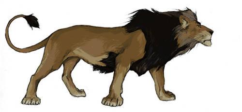 Msakaji the Dark Lion by protvscar