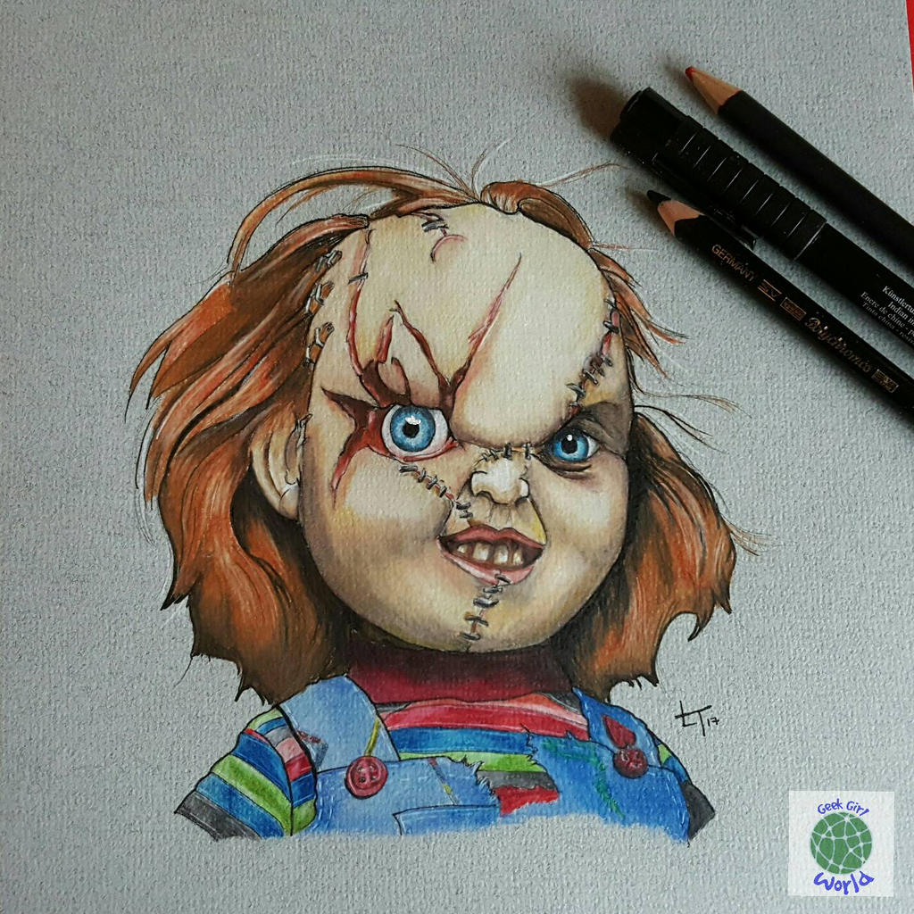 Chucky - Child Play Illustration by craftgeekgirl