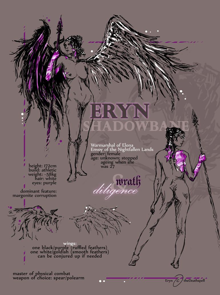 OC Eryn Character sheet by theDeathspell